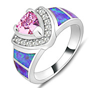 Women Lady's Finger Ring 10KT White Gold Filled Zircon Sapphire Rings Fashion Jewelry