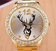 Fashion Deer Head  Diamond Steel Watch