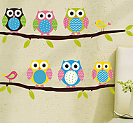 Environmental Removable Cute Owls PVC Wall Sticker