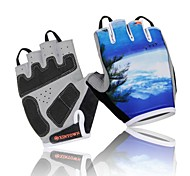 WEST BIKING® Cycling Half Finger Breathable Spring and Summer Polyester Seascape Bike Gloves