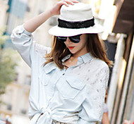 Women Casual Summer Lace Straw Hat