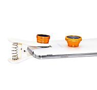 O Lens Mola Grande Angular, Lens Macro e 180 lente olho de peixe Kit para iPhone / iPad / Celular (cores sortidas)