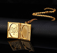 Necklace Gold Plated Lockets Necklaces Jewelry Wedding Fashion Copper / Gold Plated Gold 1pc Gift