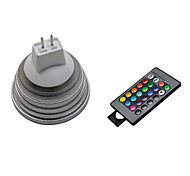 1 pcs 5W 3X 72LM 2800-3500/6000-6500K RGB/Color-Changing MR16 Remote-Controlled Spot Lights AC 220-240V