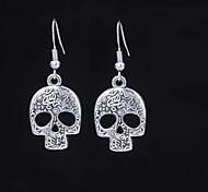 Cute Skeleton Silver Alloy Earrings (1 Pair)