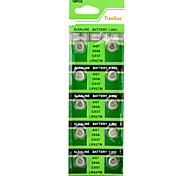 AG7 / LR927 1.55V Alkaline Cell Button Batteries (10-Piece Pack)