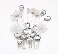 Women's/Flower Girl's Crystal/Alloy/Imitation Pearl/Acrylic Headpiece - Wedding/Special Occasion Hair Combs/Flowers