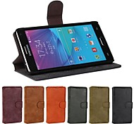 Teléfono Móvil Samsung - Carcasas de Cuerpo Completo/Fundas con Soporte - Diseño Especial - para Samsung Galaxy Note 4 Cuero PU/Piel Genuina )