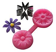 muffa bigné silicone 8 petali di fiore goffratura
