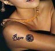 5Pcs  3D  Waterproof Chinese Rose Pattern Tattoo Stickers