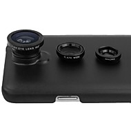 3 in 1 Lens Kit 180 Fisheye Lens + Wide Angle + Macro Lens + Case Cover for Samsung Galaxy Note 3 N9000(Assorted Color)