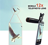 12X Telephoto Manual Focus Lens with Universal Clip for iPhone/iPad and Others (Assorted Color)