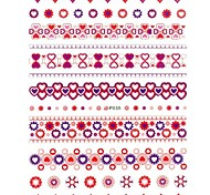 1PC New 3D Trendy Nail Art Stickers Nail Wraps Nail Decals Heart Sun Flower Nail Polish Decorations