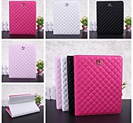 Wkae® Crown with Rivet Pattern PU Leather Case with Stand for iPad 2/3/4(Assorted Colors)