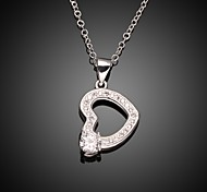 Plated Silver Necklace Fashion Pendant Heart Necklaces