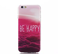 Be Happy Words Colorful Clouds Pattern Ultra Thin TPU Soft Back Cover Case for iPhone 6