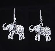 Cute Elephant Silver Alloy Earrings (1 Pair)