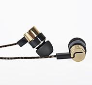 Fones (Ouvido) (Ouro , Microfone/MP3/Ressonância/Portatile/Fones de Ouvido) - Com Cabo - Dentro da Orelha -Classico/Desenho