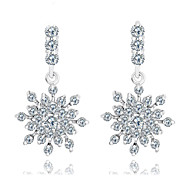 High Quality Women  Drop Earrings Lady 10KT White Gold Filled Earring AAA Zircon Fashion Jewelry For Party