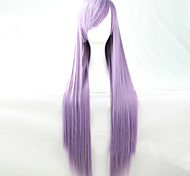 The New Anime Light Purple Long Straight Hair Wig 80CM
