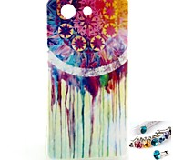 White Water Pattern TPU Back Cover Case and Dust Plug for Sony Xperia Z3 Mini