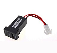 AYA® Car Modification Accessories Car 12V 2.1A USB Port Socket with Voltage Display for TOYOTA