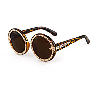 Sunglasses Women's Classic / Retro/Vintage / Sports Round Champagne / Pink / Blue / Gray / Leopard / Bright Black / Transparent Sunglasses