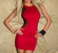 Elegant Lady Red and Black Spandex Nightclub Uniform