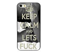 mantenha a calma e permite que caso difícil projeto foda para iPhone 4 / 4S