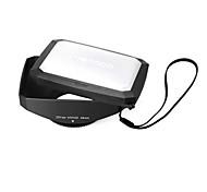 mennon 46mm 16: 9 Weitwinkelvideokamera Schraubbefestigung Gegenlichtblende mit Weißabgleich Kappe, schwarzer