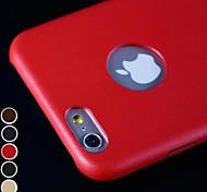 Couleur Pleine/Cuir - Coque - pour iPhone 6 ( Rouge/Noir/Bleu/Marron/Or , Cuir PU )