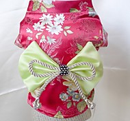 Lovely Pet Brocade Kimono Dresses for Pet Dogs