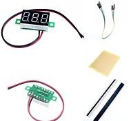 """0.36 """"привели две линии 3-цифровой постоянного тока Модуль метр вольтметр и аксессуары для Arduino"""