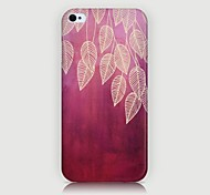 Willow Leaf Pattern Back Case for iPhone4/4S