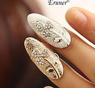 eruner® 2015 nuevos elegantes mujeres de moda de los anillos dulces / tres hojas anillos de cristal dedo del arte del clavo mujeres