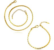 Gold Plated 2.5MM Fashion Jewelry Sets Necklace bracelet