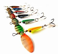 Top Quality Lead Fish Spinner Bait Metal Fishing Lure 5.9-7.5g 12pcs with Fly Hooks