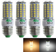 Zweihnder QR-E27-69 E27 7W 600lm 3500/6500K 69 x 5050 SMD Cool/Warm White Corn Light  (AC 220-240V,4Pcs)