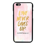 Love Never Gives Up Design Hard Case for iPhone 6