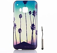 Coconut Trees at The Sunset Pattern PC Hard Back Cover Case with Touch Pen for HTC One M9