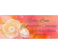 Personalized Product Labels / Address Labels Flower Pattern Orange Film Paper