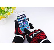 Creative Style Mixed Color Touch Gloves for iPhone and Other