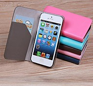 LENTION Perfection Series Case Simple Clamshell Design Well Protective Cover with Card Holder for iPhone 5/5S