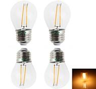 Lámparas LED de Filamento Decorativa Zweihnder BA E26/E27 2 W 2 LED Dip 180 LM Blanco Cálido AC 100-240 V 4 piezas