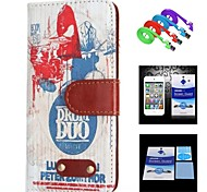Band Pattern Full Body Case+1 HD Screen Protector+1 USB Data Transmit and Charging Cable for iPhone 6