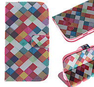 Color Box Pattern PU Leather Full Body Case with Card Slot for Samsung Galaxy Grand Neo I9060/9062/9080/9082