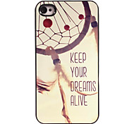 Keep Your Dreams Alive Design Aluminum Hard Case for iPhone 5/5S