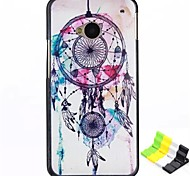 Campanula Pattern PC Hard Back Cover Case and Stand for HTC One(M7)
