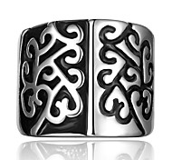 Brand Skull Head Ring 316L Top Quality Stainless Steel Jewelry Inverse Black & White Carving Punk Rings For Men Women