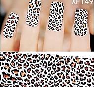 1X10PCS Full-cover Nail Art Stickers Leopard Print Series XF1498